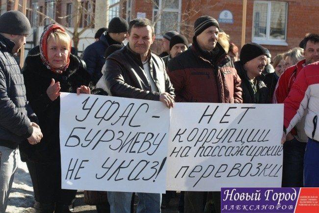Митинг в городе Александрове