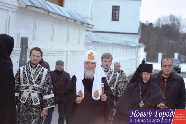 Светлейший патриарх Московский и всея Руси Кирилл в Стефано-Махрищском ставропигиальном женском монастыре.