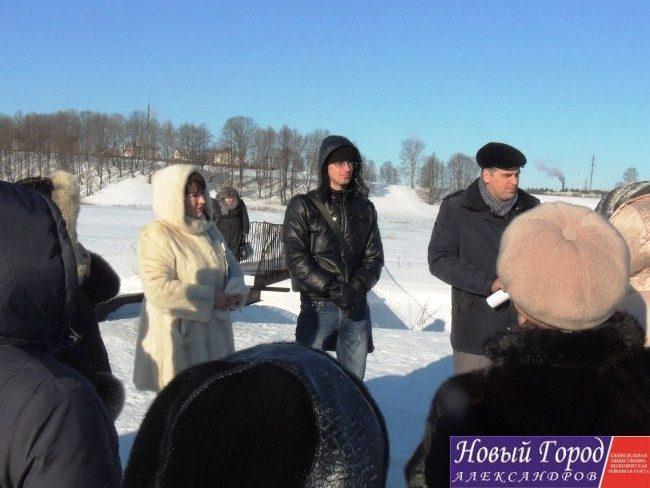 Встреча с жителями деревни Холопово