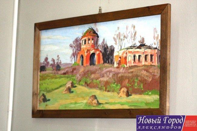 В Александрове открылась выставка художника Бориса Крылова