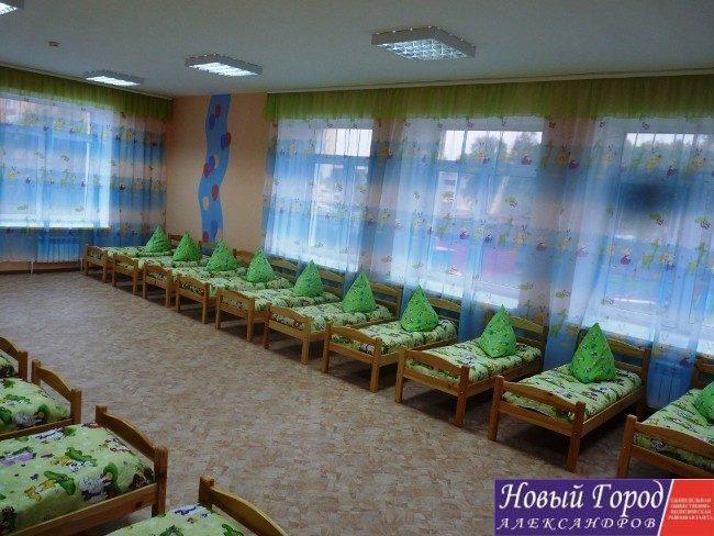 Спальные комнаты в детском садике №7