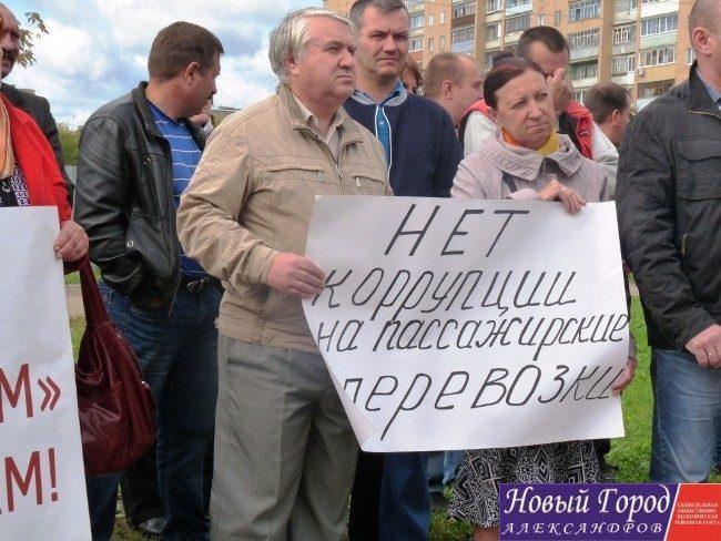 Митингующие в Александрове