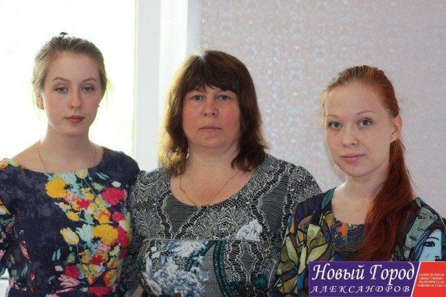 Марина Владимировна Пырова с дочерьми
