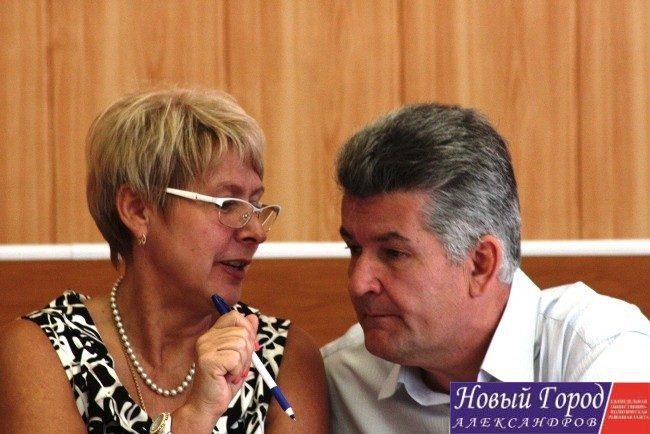 Глава района Людмила Кузьмина и глава районной администрации Игорь Першин