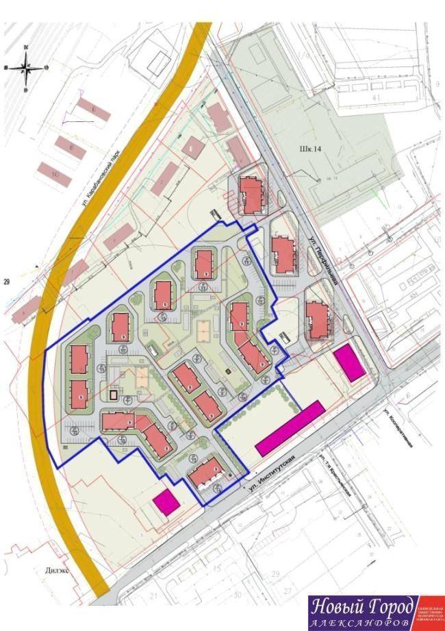 План-схема нового жилого комплекса